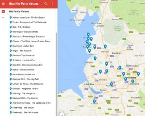 iBox party venues map
