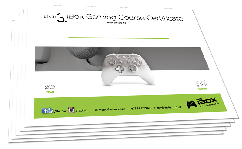 level 3 gaming certificate